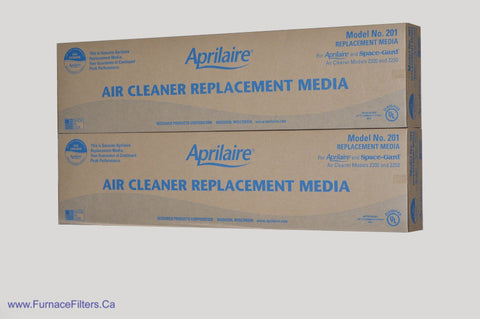 APRILAIRE Genuine Part / Stock # 201 for Model 2200 High Efficiency Air Cleaners. Package of 2
