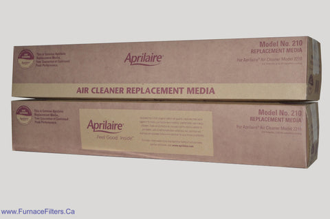 APRILAIRE Genuine MODEL No. 210 Replacement Filter. Package of 2