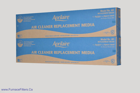 APRILAIRE Genuine Part / Stock # 401 for Model 2400 High Efficiency. Package of 2