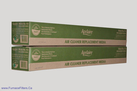 APRILAIRE Genuine MODEL No. 413 Replacement Media. Package of 2