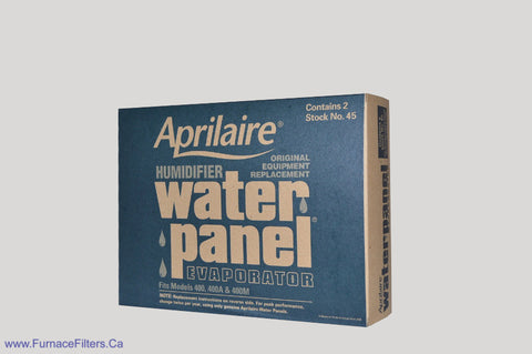 APRILAIRE Humidifier Part No. 45. Fits Model 400 400A & 400M. Case of 2