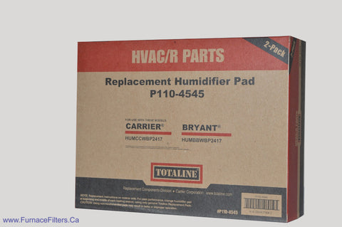 Carrier Humidifier Pad Part # P110-4545 for Models HUMCCWBP2417. Package of 2