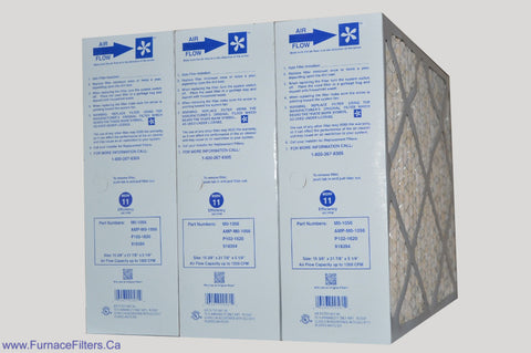 "CARRIER Part # M0-1056 GENUINE MERV 11 Actual Size 15 3/8"" x 21 7/8"" x 5 1/4"". Case of 3"