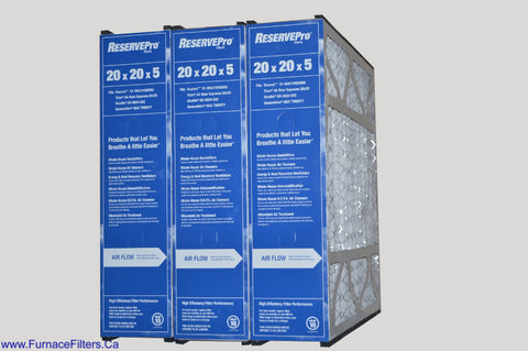 GENERALAIRE Part # GFI 4531 / MacTwenty, Genuine 20x20x5 MERV 10. Package of 3