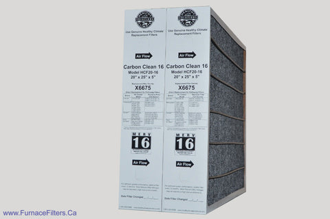 LENNOX/HEALTHY CLIMATE Part No. X6675 MERV 16 for Model HCF20-16. Package of 2