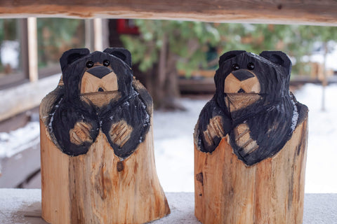 the adirondack store wood carved bear