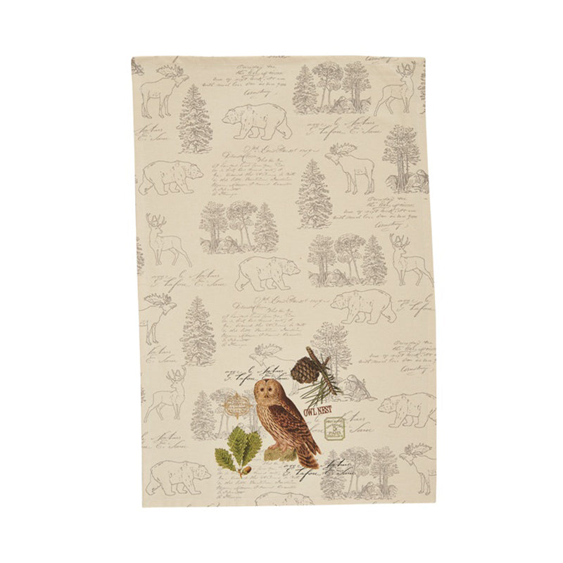 Park Designs - Dish Towel Owl Wildlife Trail