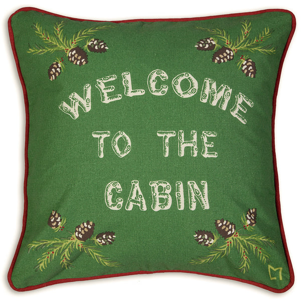 Canvas Pillow - Welcome To The Cabin