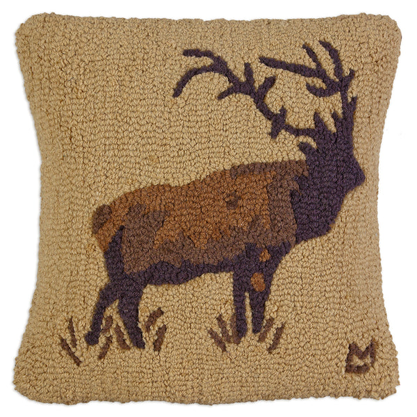 Hooked Pillow - Golden Elk