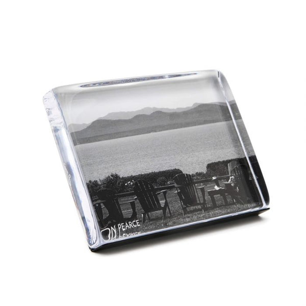 "WOODBURY HORIZONTAL PHOTO BLOCK FRAME  5"" X 7"""