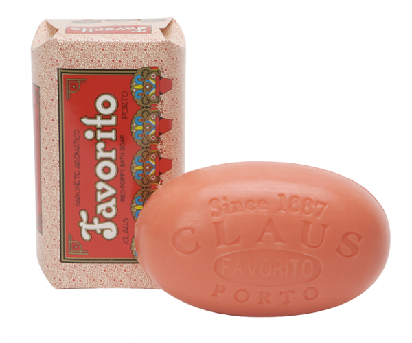 Claus Porto Bar Favorito / Red Poppy Bath Soap
