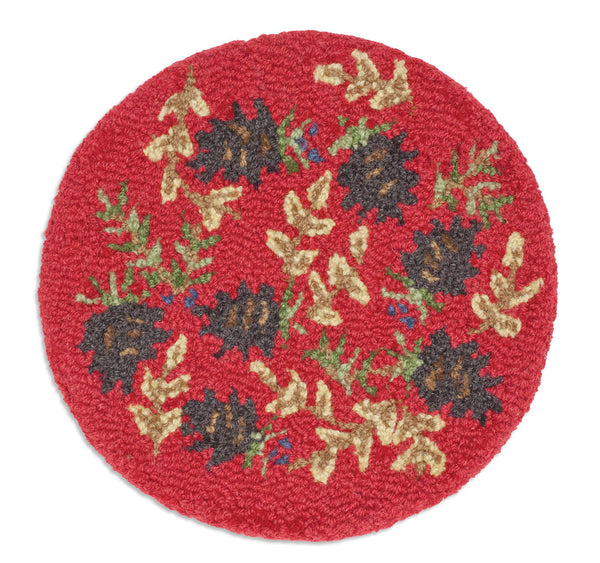 "Chair Pad 14""  - Ruby Pinecone"