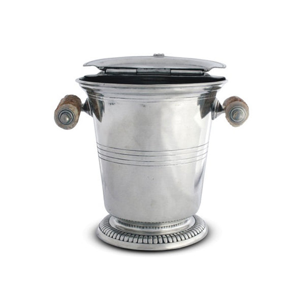 Vagabond House Pewter Ice Bucket with Antler Handles
