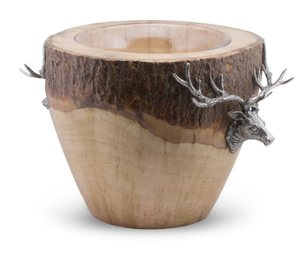 Vagabond House Natural Log Elk Ice Bucket