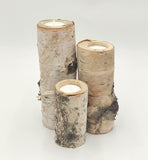 Handcrafted Birch Tealight 6""