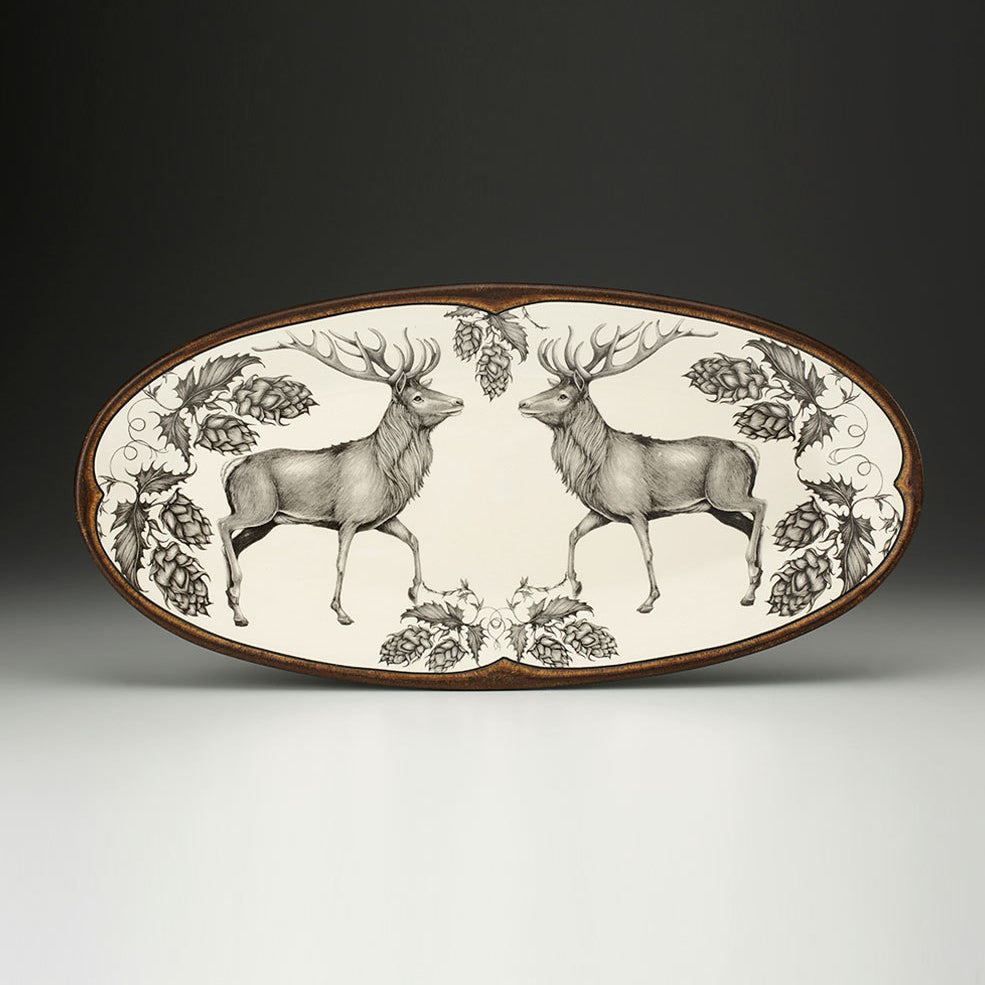 Laura Zindel Design - Fish Platter Red Buck