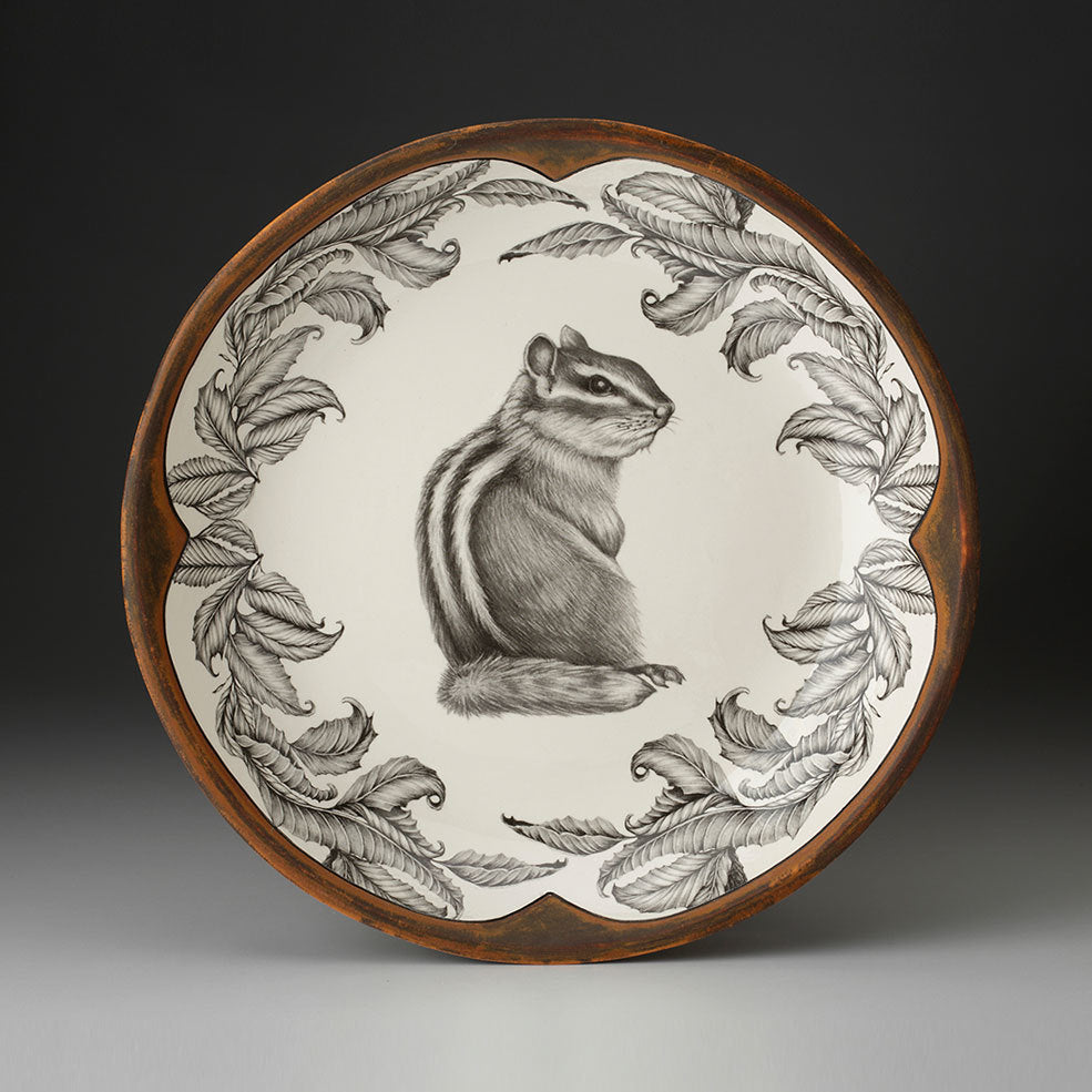 Laura Zindel Design - Small Round Platter Chipmunk