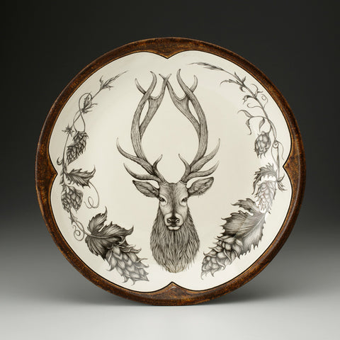 Laura Zindel Design - Small Round Platter Red Stag