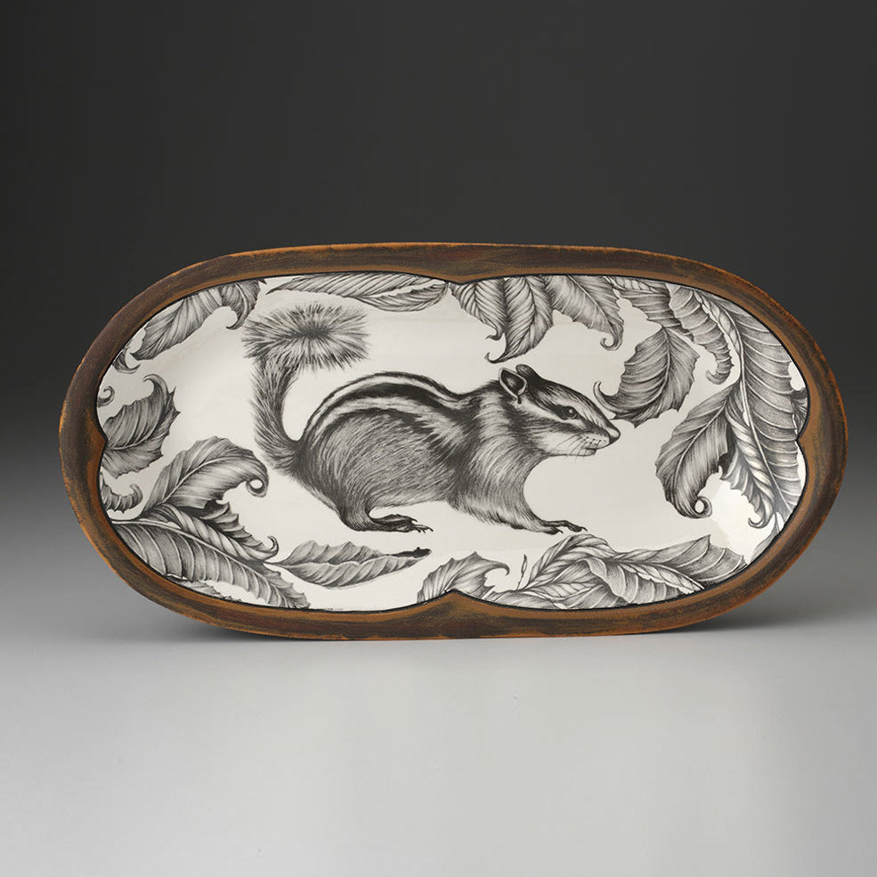 Laura Zindel Design - Rectangular Serving Dish Chipmunk #2