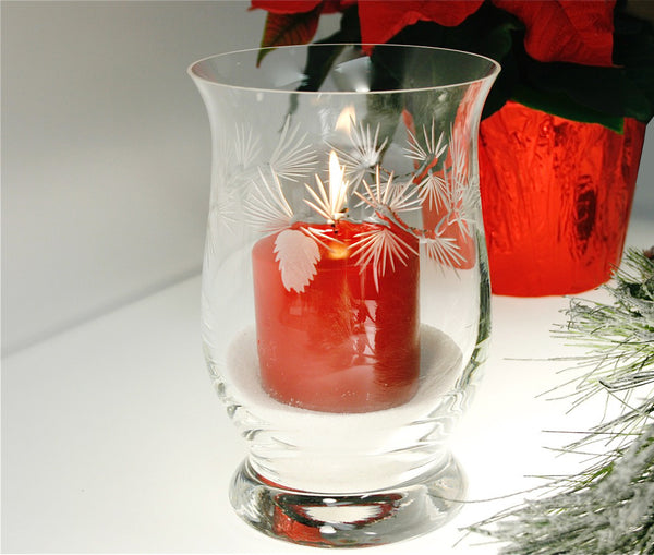 Rolf Glass - Icy Pine Hurricane Candle Holder
