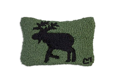 Pillow 8x12 Moose on Green