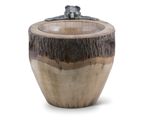Vagabond House Natural Log Bear Ice Bucket