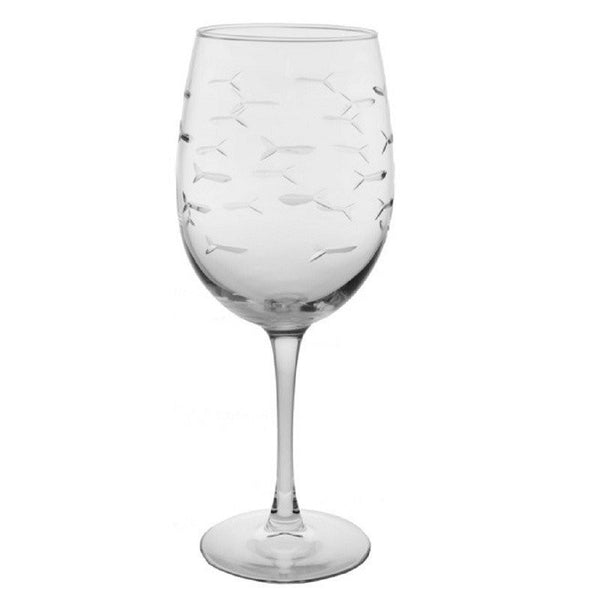 Rolf Glass - School Of Fish 18 oz Large All Purpose Wine Glass