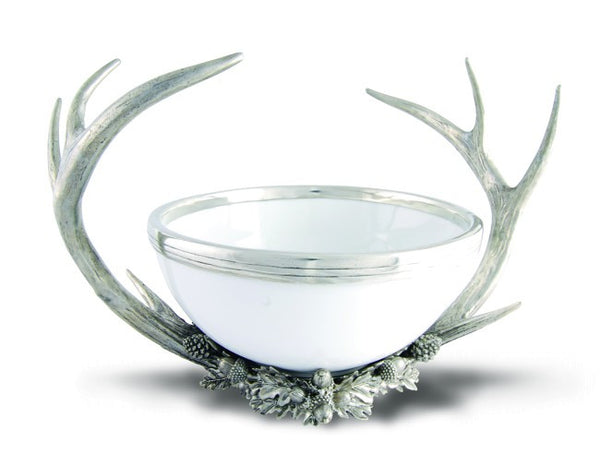 Vagabond House Pewter Antler Bowl