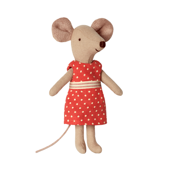 Maileg Big Sister Mouse Dots In Box