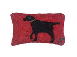 Pillow 8X12 Black Walking Dog