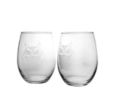 Rolf Glass - Owl 17 oz Stemless Tumbler
