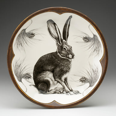 Laura Zindel Design - Small Round Platter Hare
