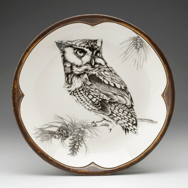 Laura Zindel Design - Screech Owl Small Round Platter
