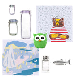 The Chef's Box, Zip lock bags, Dish towels, Owl Timer and Magic Fish Soap