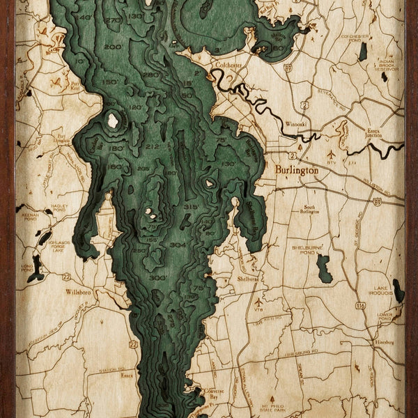 WoodChart - Lake Champlain Nautical Chart