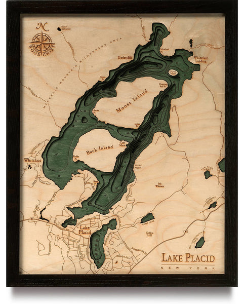 WoodChart - Lake Placid Nautical Chart