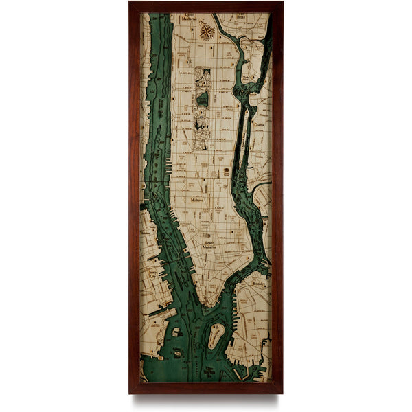 WoodChart - Manhattan Nautical Chart