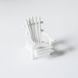 Miniature Adirondack Chair - White