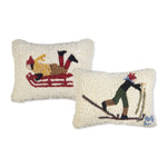 Mini Sledder and Cross Country Skier Pillows
