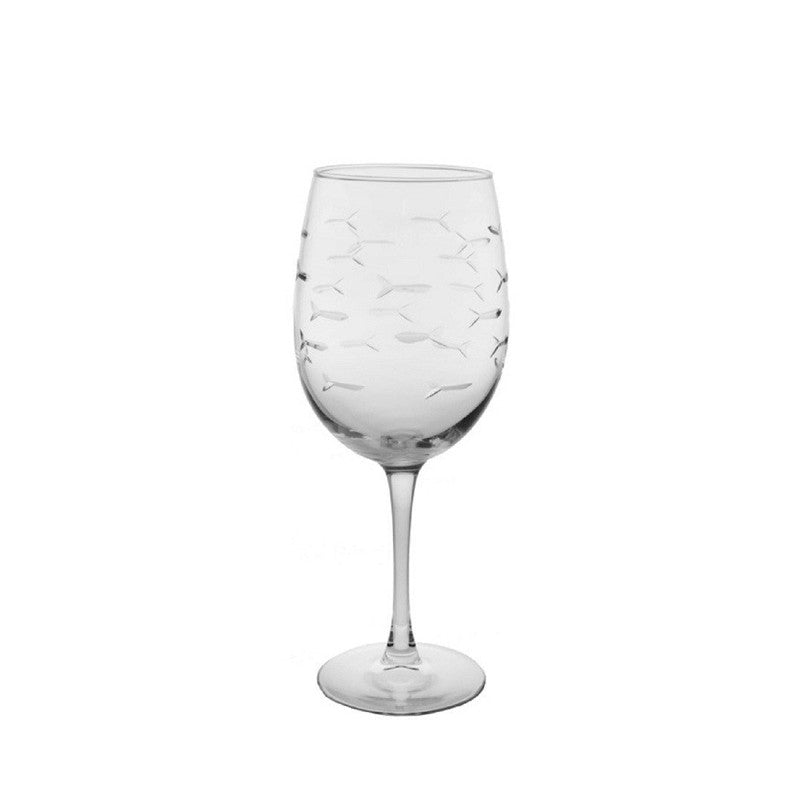 Rolf Glass - School Of Fish Small 12 oz Wine Glass