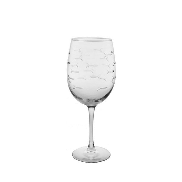 Rolf Glass - School Of Fish Small 10.5 oz Wine Glass