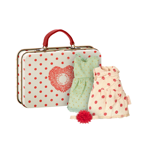 Maileg Mouse Suitcase with 2 Sets of Clothes
