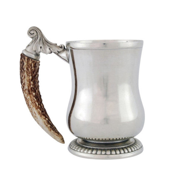 Vagabond House Curved English Mug - Antler Handle