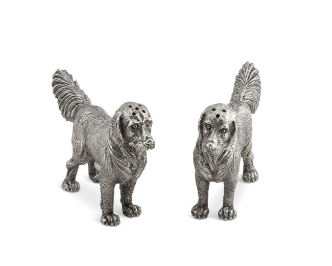 Vagabond House Pewter Retriever Salt & Pepper Set