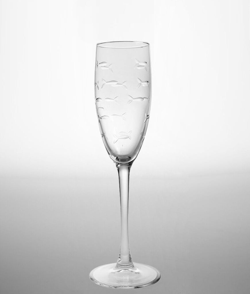 Rolf Glass - School Of Fish 8 oz Champagne Flute