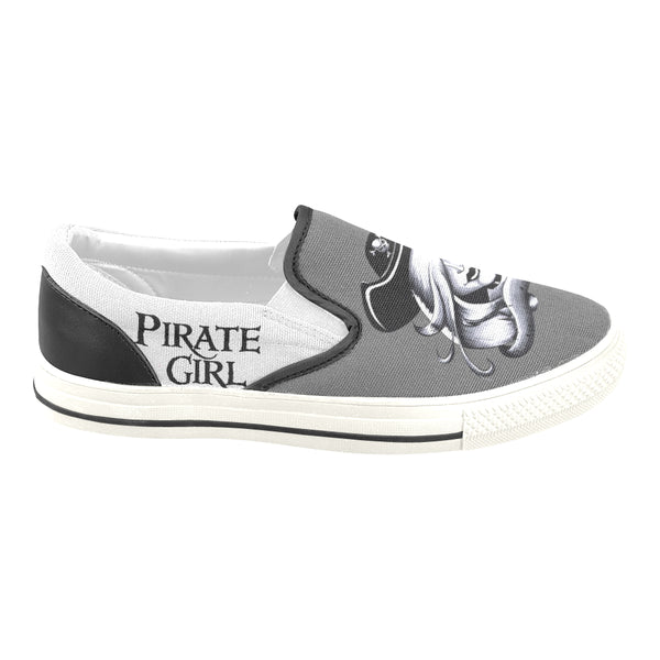 Slip-On Canvas Shoes Pirate Girl Charcoal Color Ltd Edition D404005