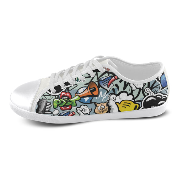 Cool White Canvas Shoes For Women Ltd Edition D322362