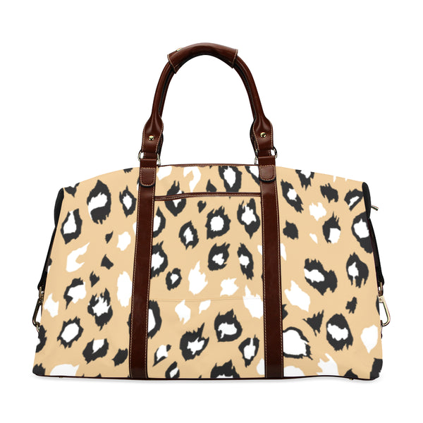 Animal Print Yellow Flight Bag For Women Ltd Edition D322424