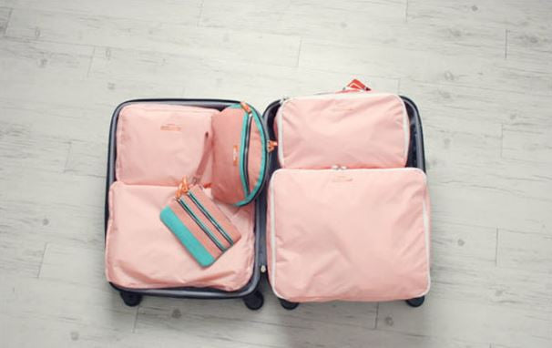 Lightweight Luggage Travel Packing Organizers Five Piece Set