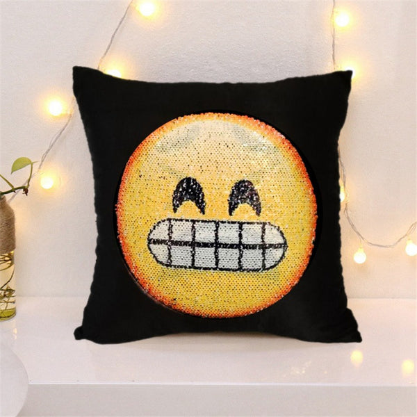 Antiestress Changing Face Emoji Decorative Cushion Cover